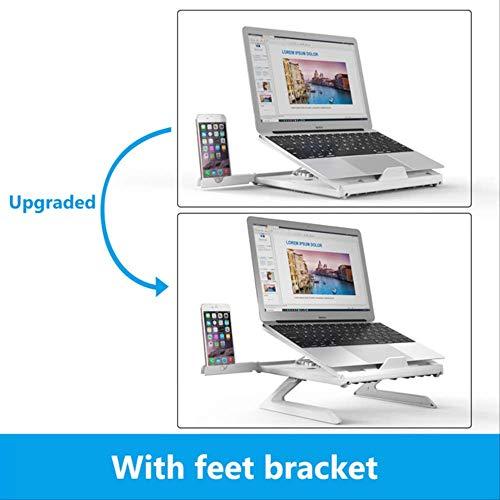 DAJUZI Supporto per Laptop per MacBook PRO Air 15 13 Supporto per Notebook Supporto per Tablet Portatile Supporto per Telefono Supporto per Laptop per Xiaomi Computeraggiornato Bianco