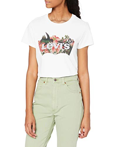Levi's The Perfect T-Shirt, Batwing Fill Hummingbird Tee White, M Donna