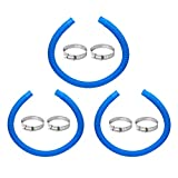 Pool Pump Replacement Hose, 1.25 x 41 Inch for compatible with Intex Filter Pump 607, 637 and 32mm Above Ground Pools include 6 Hose Clamps, Replace for compatible with Intex Hose(3 set)