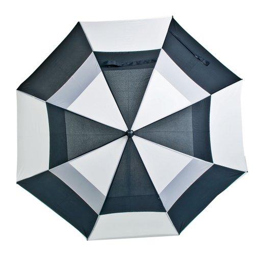 LONGRIDGE Boston Golf PALBW - Paraguas de Doble Capa Bicolor, Color Negro y Blanco