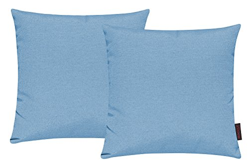Set di 2 copricuscino per divano salotto - Dimensione: 40x40cm - Colore: Turchese