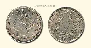 1908 liberty head v nickel