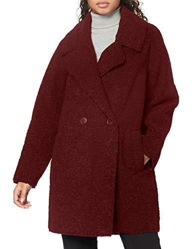 ESPRIT Collection Damen 080EO1G336 Jacke, 600/BORDEAUX RED, S