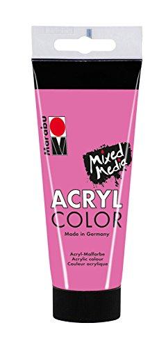 Marabu 12010050033 - Acryl Color, cremige Acrylfarbe auf Wasserbasis, schnell trocknend, lichtecht, wasserfest, zum Auftragen mit Pinsel und...