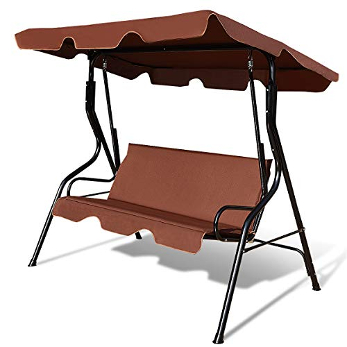 Tangkula 3 Seater Canopy Swing, Outdoor Patio...