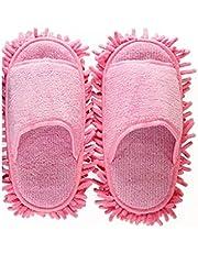 CrieryoK モップスリッパ マイクロファイバー 履くモップ 歩くだけで 簡単 お掃除 タオル綿 着心地よい 男女兼用 4色 超極細繊維 可愛い 便利