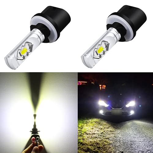Alla Lighting 3800lm 899 880 LED Fog Light Bulbs,...