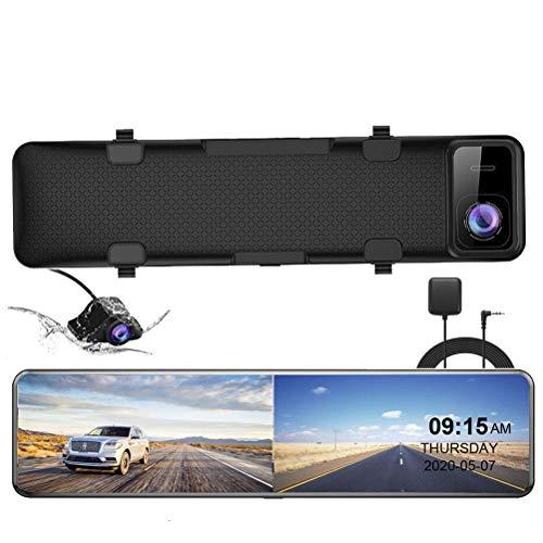 Flashing 12'Coche DVR 4K 3840 * 2160P Dash CAM View View Mirror Cámara GPS 1080P Cámara de Coche Registrador de Video Monitor de estacionamiento (Color : 64G, Size : 10M RC-PC)