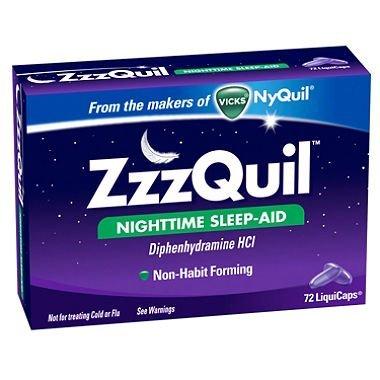 Sams Zzzquil Nighttime Sleep-aid - 72 Liquicaps