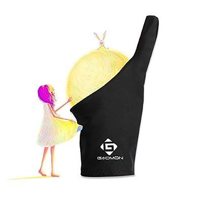 GAOMON 1 Finger Professional Black Artist Lycra Glove for Graphics Tablet/Pen Display/LED Light Box- Free Size