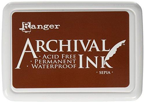 Ranger Sepia Archivierung Ink Pad, braun Sepia Archival Ink Stempelkissen, Braun braun