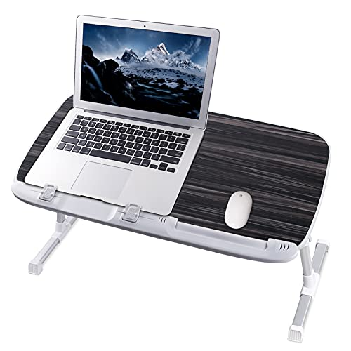 NEARPOW Laptop Desk for Bed, Larger Size Bed Table Laptop Bed Tray, Height and Angle Adjustable Computer Standing Desk Lap Desk with Foldable Legs for Reading and Writing in Bed, Sofa, Couch, Floor