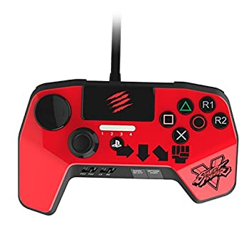 Mad Catz Street Fighter V FightPad PRO for PlayStation4 and PlayStation3 - Red