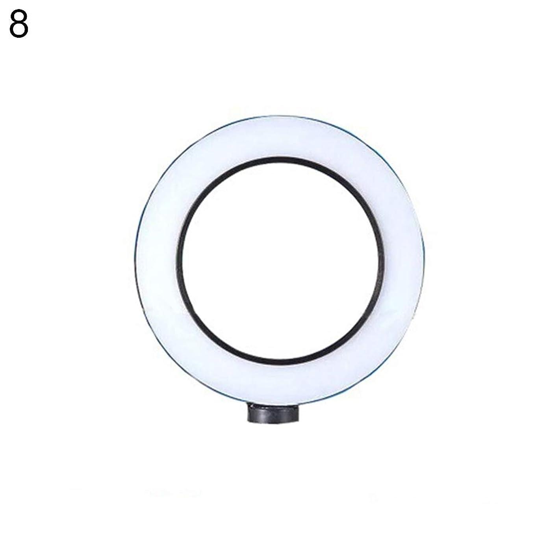 ink2055 Ring Selfie Light,Universal Round LED Ring Fill Light Webcast Selfie Lamp Tripod Stand Bracket - 8