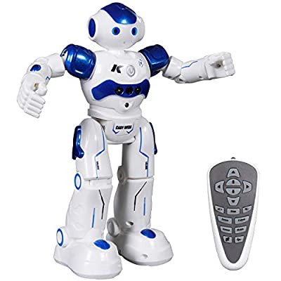 SGILE RC Robot Toy, Programmable Intelligent Walk Sing Dance Robot for Kids Gift Present, Blue from SGILE