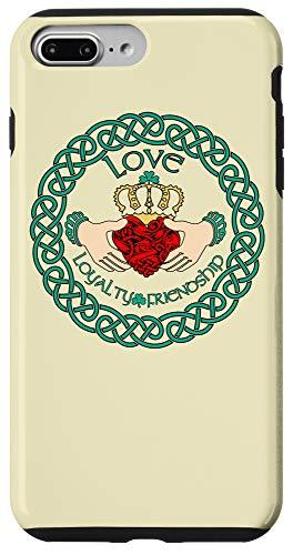 iPhone 7 Plus/8 Plus Irish Claddagh Ring Love Loyalty Friendship Celtic Pattern Case