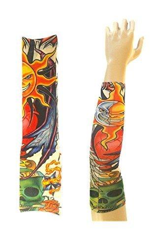 Inception Pro Infinite Modelo w18 - Manga del Tatuaje - ponible - Manga - Tatuaje Falso - Imagen - Sol - Luna y Calavera con inscripcin Carpe Diem - Tatuaje - Media Manga - Tribal