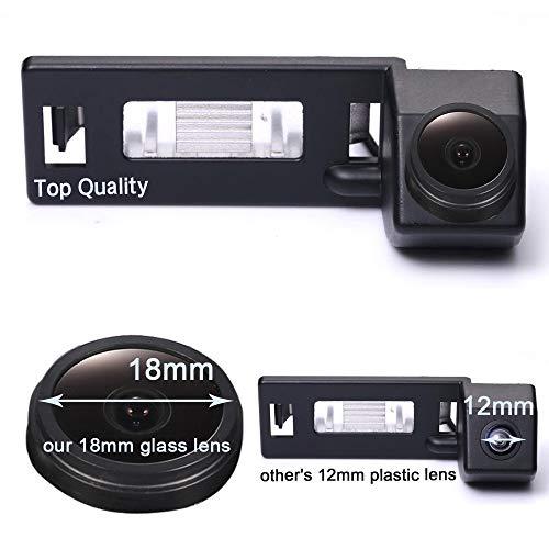 HDMEU Caméra de recul de Voiture pour Plaque d'immatriculation étanche et Vision Nocturne pour A1 A4 B8 A5 5D S5 TT Roadster Q5 RS Coupé Cabriolet