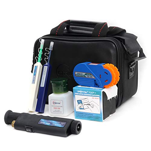 ORIENTEK TCI-6E Fiber Optic Inspection Cleaning Tool Kit Including Fiber Microscope, Fiber Cleaner, Cleaning Wipes