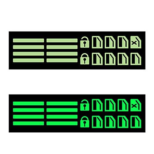 mlloaayo Etiqueta Engomada Fluorescente General del Interruptor De La Ventanilla del Coche, Etiquetas Luminosas Adhesivas Fuertes del PVC
