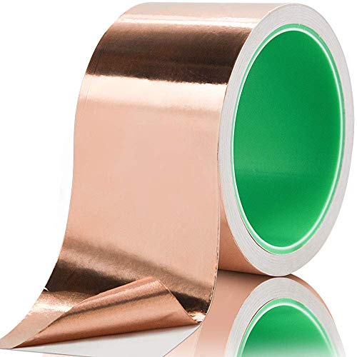 Cinta de lámina de cobre (2 pulgadas x 32.4 m) con adhesivo...