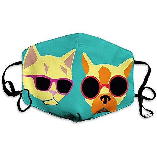 Mond Masker met Verstelbare Bandjes kat hond fel zonnebril Mooie