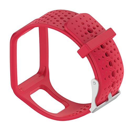 Lokeke TomTom reserveband voor Smartwatch, TomTom Multi-Sport GPS-horloge, Silicone rood