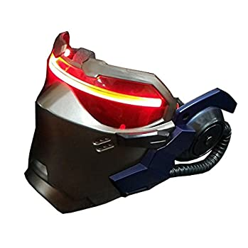nice--buy OW Soldier 76 AIR VENTS Luminous Mask Jack Morrison Game Cosplay Prop Replica  with Light