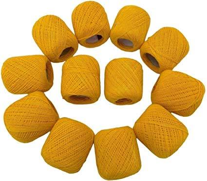 SAMRIDHI Religious Moli - Pulsera hindú de algodón para muñeca (6 unidades), color amarillo