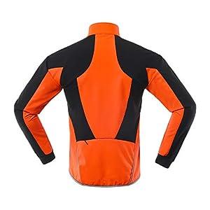 ARSUXEO Chaqueta Ciclismo Hombre Invierno Polar Térmico Softshell MTB Ropa de motorista 20B naranja XL