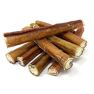 Dragonfly Products 10 pieces Bulls PIZZLES Pizzle Bully Stick for Dogs EU Natural Treat (Thick Pizzles (10))