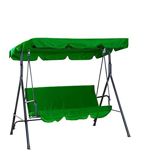 Enmayode - Toldo Universal de Repuesto para Silla de Columpio, Cubierta para Patio, Hamaca, Cubierta Superior para jardín al Aire Libre (164 * 114 * 15cm, Verde)