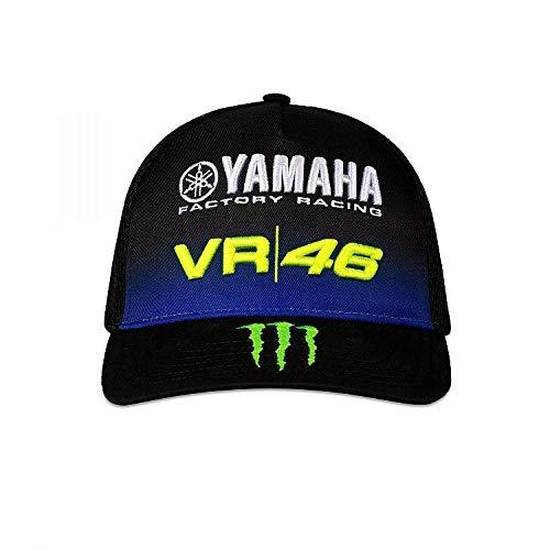 Valentino Rossi Yamaha Dual-Negro, Mid Visor cap Hombre, Solamente