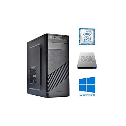 Pc desktop computer fisso intel core i7 8700 Alte prestazioni / Ram 16 Gb DDR4 / Hdd 1Tb + SSD 240 GB / HDMI / 4k UHD / Windows 10 Pro / Wifi / DVDRW
