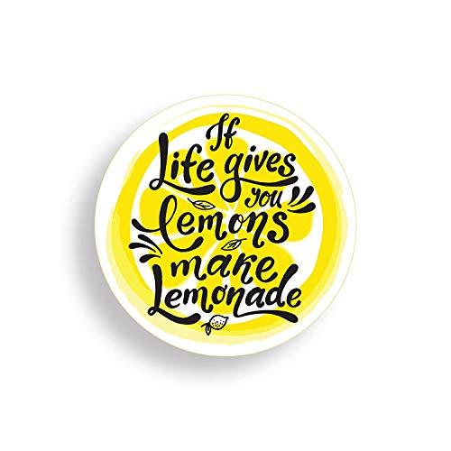 calcomanía fresco para coches, camiones, botellas de agua, nevera, portátiles Life Gives Limones Make Limonada Pegatinas (3 unidades)