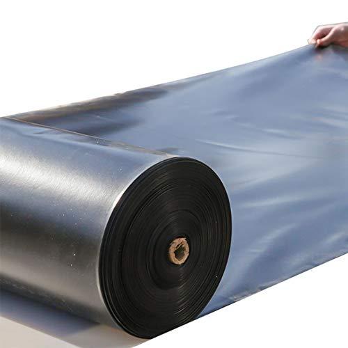 Transparente Lona de 0,2 mm / 0,3 mm de espesor, impermeable, cubierta protectora de bloqueo de rayos UV, negro reversible, revestimiento laminado, para cubrir muebles de jardín, camping, cubiertas