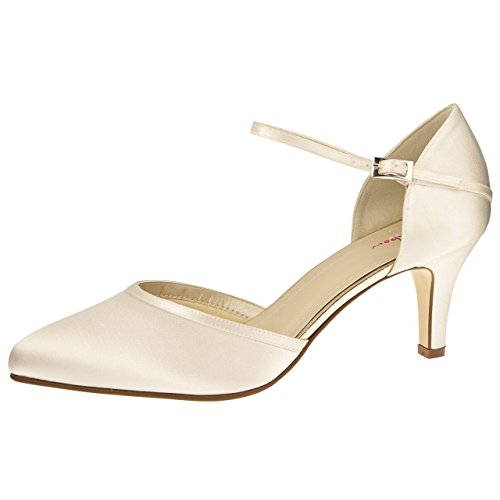 Elsa Coloured Shoes Rainbow Club Brautschuhe Dewi Ivory Satin (Bliss) 38 (5 UK)