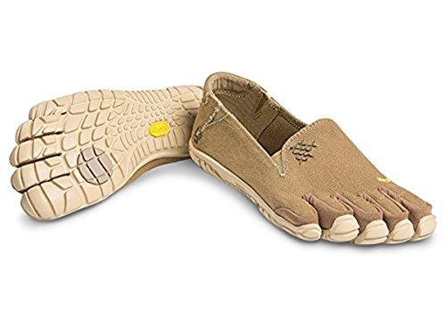 Vibram FiveFingers Women's CVT-Hemp Barefoot Shoes Khaki 37 & Pemium Toesock Bundle