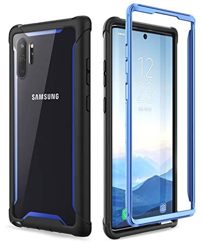 i-Blason Handyhülle für Samsung Galaxy Note 10+ Plus Hülle Bumper Hülle Robust Schutzhülle Transparent Cover [Ares] OHNE Integriertem Bildschirmschutz 6.8 Zoll 2019 Ausgabe (Blau)
