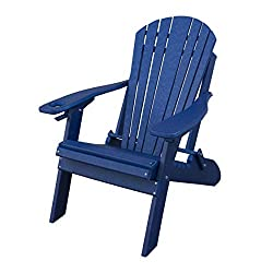 Poly Lumber Folding Adirondack Chair w/Cup Holder & Smart Phone Holder