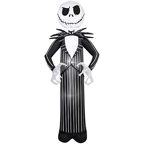 Gemmy Airblown Inflatable Jack Skellington Nightmare Before Christmas Halloween Decoration 7' Tall