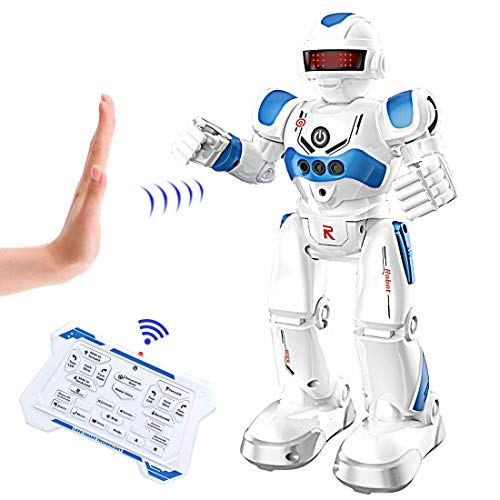 BIBIELF RC Robot Toy, Remote Control Robot Intelligent Programmable Gesture Sensing Robots for Kids 3+ Year Old Boys and Girls