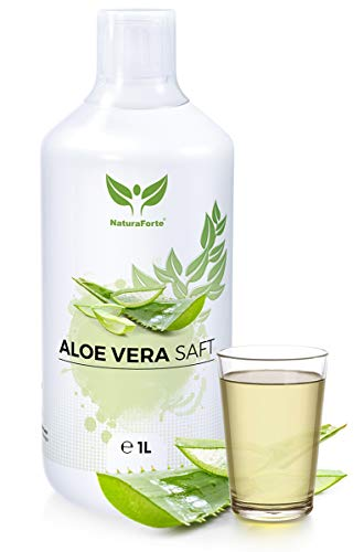 NaturaForte Aloe Vera Saft 1L - Premium 100% Direktsaft, zum Trinken, Aloe barbadensis miller Pflanze, Aloe Vera Juice