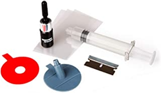 AzuNaisi 1set Profesional Kit de reparación de Parabrisas de Vidrio duraderos de Coches Herramientas de reparación de Grietas Media Luna o Las Grietas de combinación