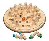 Philos 3170 - Memo Spiel, Memory Schach, Match Stick, Gedächtnisspiel aus Holz, mit 24 Spielkegel und 1 Würfel, Kiefern- und Birkenholz