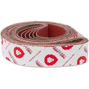 Red Label Abrasives 2 X 42 Inch 36 Grit Metal Grinding Ceramic Sanding Belts Extra Long Life 6 Pack Amazon Com