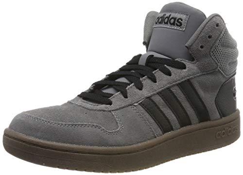 adidas Herren Hoops 2.0 MID Basketballschuhe, Mehrfarbig (Grey Four F17/Core Black/Core Black Ee7367), 42 EU