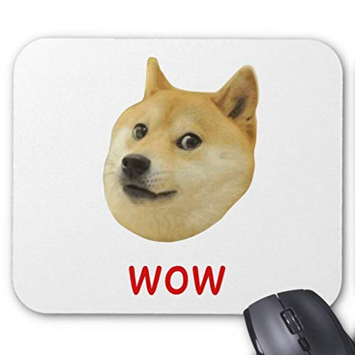 Doge Very Wow Much Dog Such Shiba Shibe Inu Mouse Pad 18×22 cm