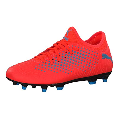 Puma Jungen Future 19.4 FG/AG Jr Fußballschuhe, Rot (Red Blast-Bleu Azur),37 EU