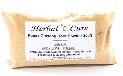 Herbal Cure -Panax Ginseng Root Powder 200g - 花旗参粉